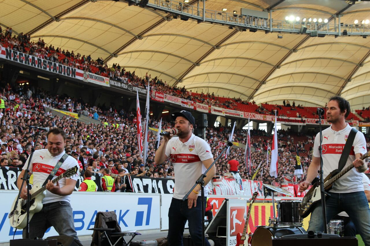 Auftritt im Stadion